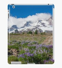 Mt Hood and lupines from Pacific Crest Trail painterly iPad Case/Skin