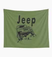 Jeep Off Road Wall Tapestry