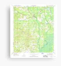 USGS TOPO Map Florida FL Ponce De Leon 348161 1948 24000 Canvas Print