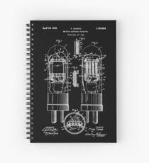 Cuaderno de espiral Patente de tubo de vacío de 1924