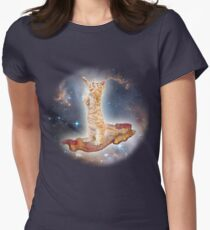 Cats in Space Womens Fitted T-Shirt