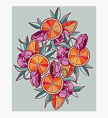 Oranges & Ranunculus Photographic Print