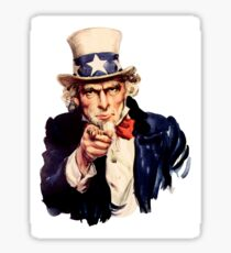 Uncle Sam Pointing Finger Sticker