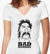 Bad Hombre Comic Women's Fitted V-Neck T-Shirt