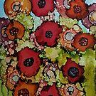 floral abstract #6 by Jennifer Lex Wojnar