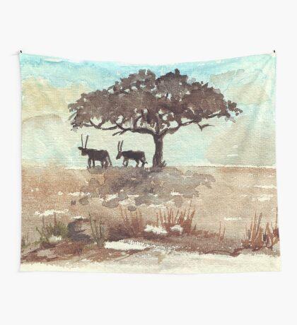 Safari Lodge décor - Gemsbok in the shadows Wall Tapestry