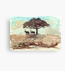 Safari Lodge décor - Gemsbok in the shadows Canvas Print