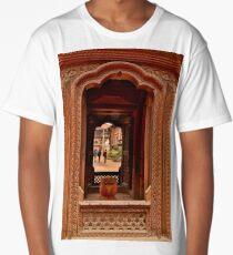 Looking Through: Bhaktapur, Nepal Long T-Shirt