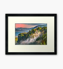 Crown Point Sunset Framed Print