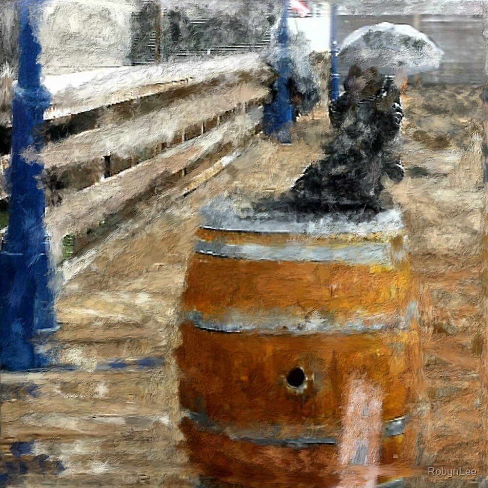 Sitting On The Dock of The Bay ( In the Style of Cezanne) by RobynLee