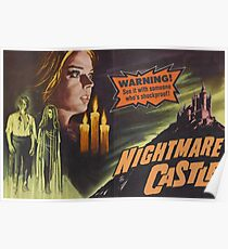 Nightmare Castle, vintage horror movie poster Poster