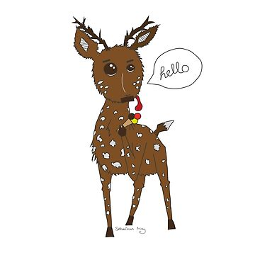 Diego the Deer Eats Ice-Cream by sebastianmay