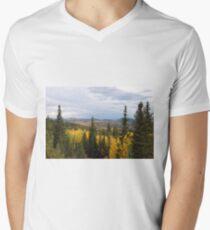 Colorado Aspen Fall Colors Mens V-Neck T-Shirt
