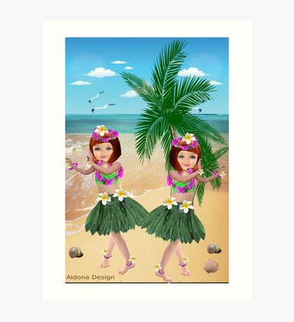 Ha wain Girls (8411  Views) Art Print