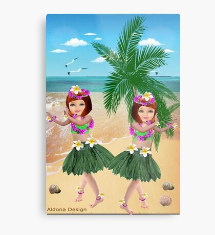 Ha wain Girls (8411  Views) Metal Print