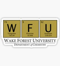 Wake Forest University Department of Chemistry Sticker