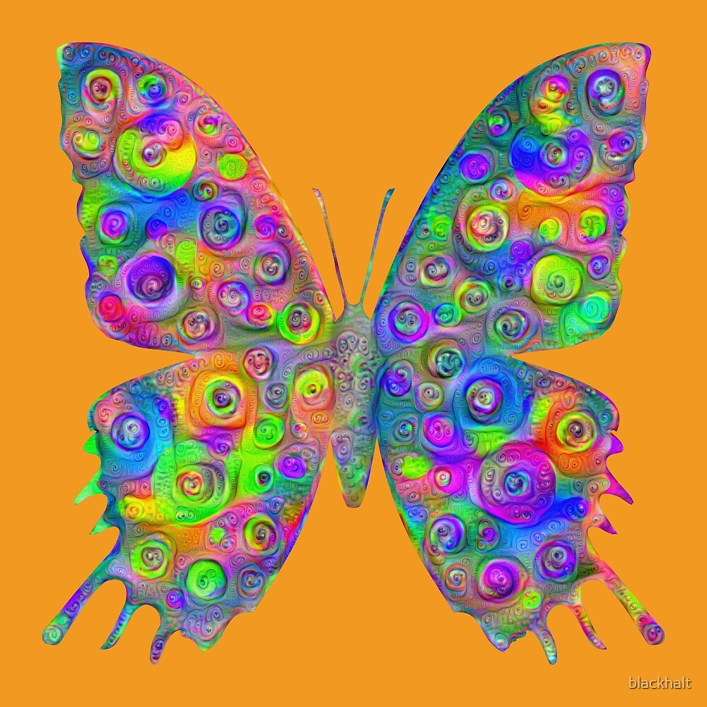 #DeepDream Motley Butterfly by blackhalt