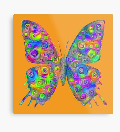 #DeepDream Motley Butterfly Metal Print