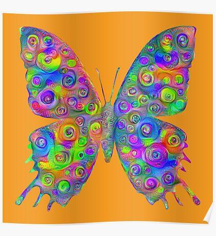#DeepDream Motley Butterfly Poster