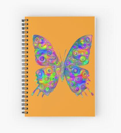 #DeepDream Motley Butterfly Spiral Notebook