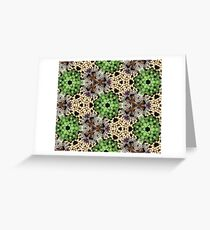Glimmering trinkets with kaleidoscopic effect Greeting Card