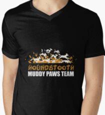 Houndstooth Muddy Paws Team Men's V-Neck T-Shirt