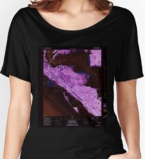 USGS TOPO Map Florida FL Long Point 347261 1982 24000 Inverted Women's Relaxed Fit T-Shirt