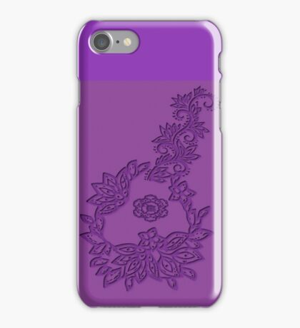 A floral Emboss  (5660 views) iPhone Case/Skin