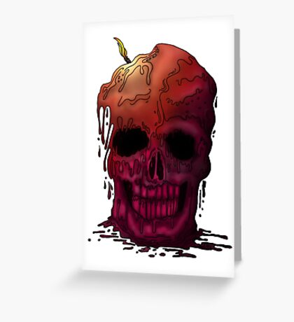 Skull Candle Greeting Card