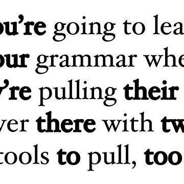 Funny grammar sentence by MERCH365