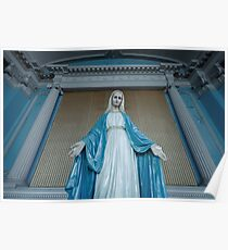 Statue of the Virgin Mary Poster