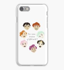 Do You Know Annyeonghaseyo? iPhone Case/Skin