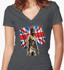 England Army  Women's Fitted V-Neck T-Shirt