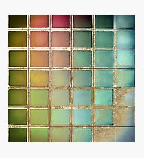 Color Chart Green Photographic Print