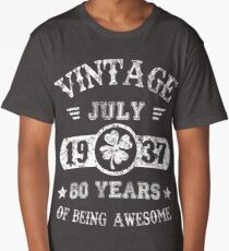 Birthday July 1937 80 Years Of Being Awesome Long T Shirt
