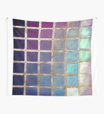Color Chart Teal Wall Tapestry