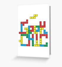 Tetris Geek Greeting Card