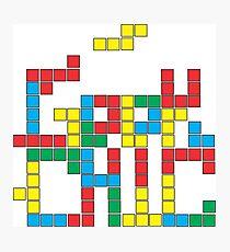 Tetris Geek Photographic Print
