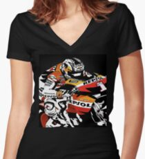 nicky speed Women's Fitted V-Neck T-Shirt
