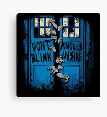 Doctor Who dont blink Canvas Print