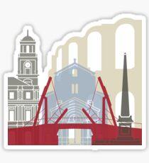 Arles skyline poster Sticker