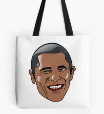 Obama Cartoon Face Tote Bag