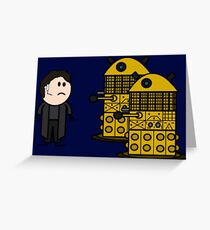 Jack Harkness and the Daleks Greeting Card