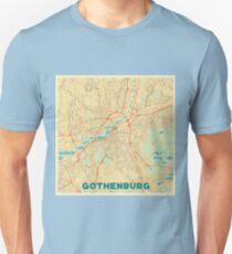 Gothenburg Map Retro Unisex T-Shirt