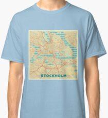Stockholm Map Retro Classic T-Shirt