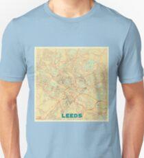 Leeds Map Retro Unisex T-Shirt