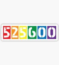 525,600 minutes [rent] Sticker