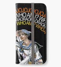 "Gappy Higashikata ""WHO AM I"" Normal Variant iPhone Wallet"