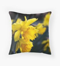Daffodil Day Throw Pillow