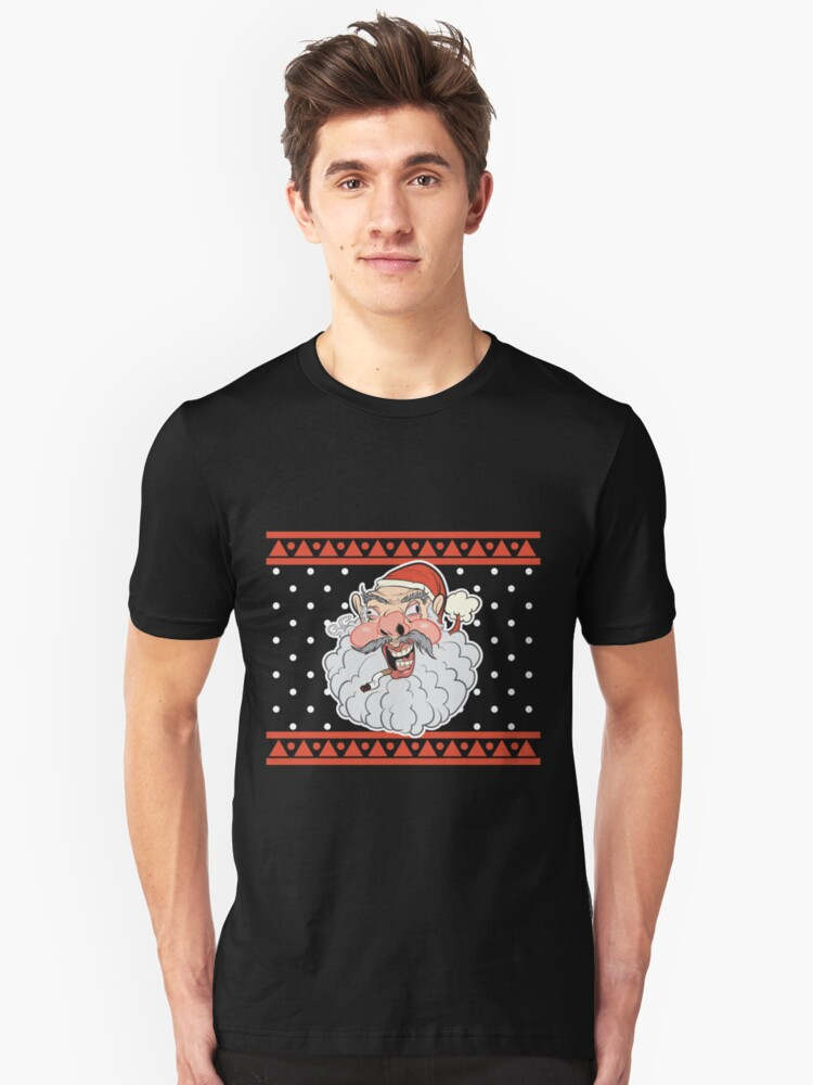 Ugly Santa Ugly Christmas Sweater Unisex T-Shirt Front